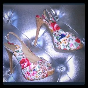 BRAND NEW Floral Peeptoe Heels!